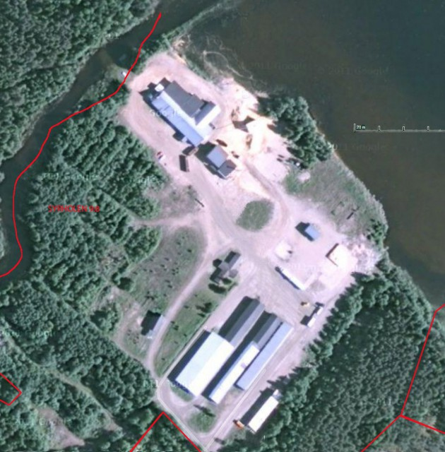 Googlekarta Flosjöns Sågverk