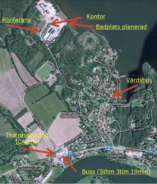 Karta översikt närliggande platser