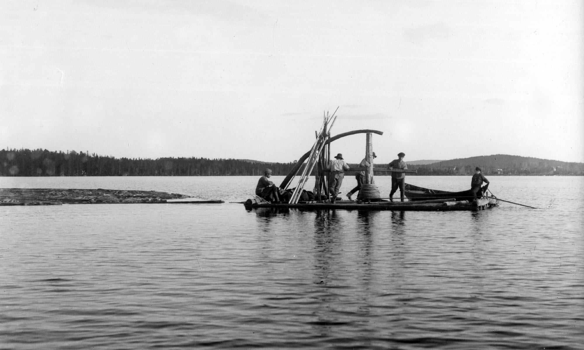 Spelflotte på Flosjön